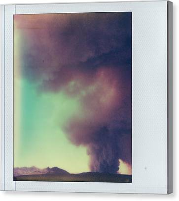 Las Conchas Fire On Instant Film Canvas Print by Julie VanDore