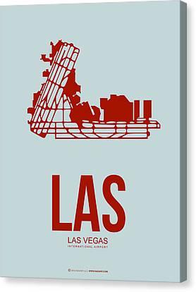 Las Las Vegas Airport Poster 3 Canvas Print