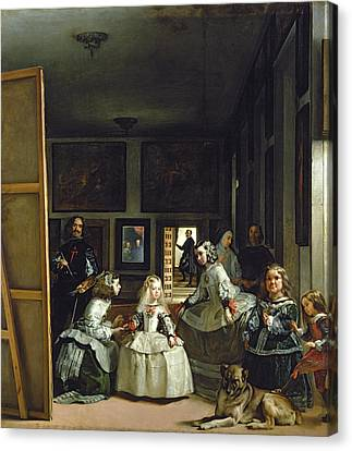 Self-portrait Canvas Print - Las Meninas Or The Family Of Philip Iv, C.1656  by Diego Rodriguez de Silva y Velazquez