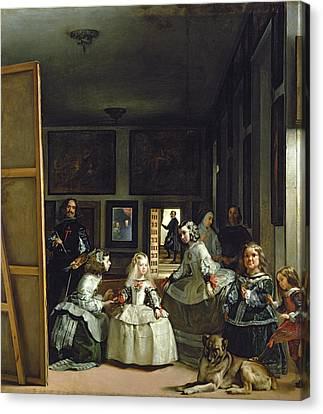 Las Meninas Or The Family Of Philip Iv, C.1656  Canvas Print by Diego Rodriguez de Silva y Velazquez