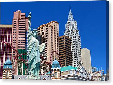 Las Vegas - New York Canvas Print by Gregory Dyer
