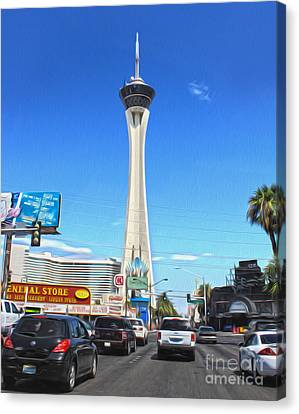 Las Vegas - Stratosphere Canvas Print by Gregory Dyer