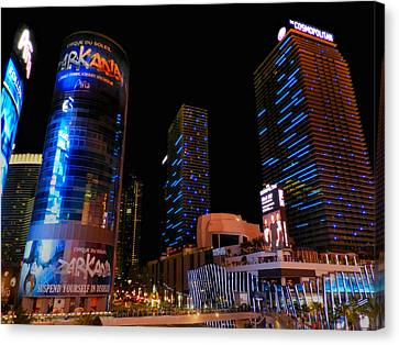 Las Vegas - Aria And Cosmopolitan 001 Canvas Print by Lance Vaughn