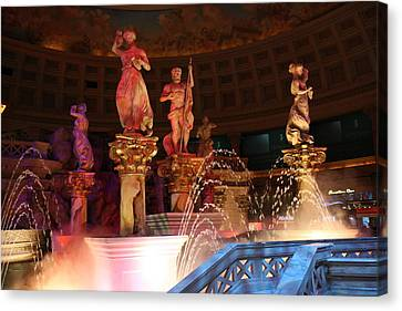 Las Vegas - Caesars Palace - 121215 Canvas Print by DC Photographer