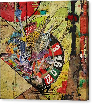 Albany Canvas Print - Las Vegas Collage by Corporate Art Task Force