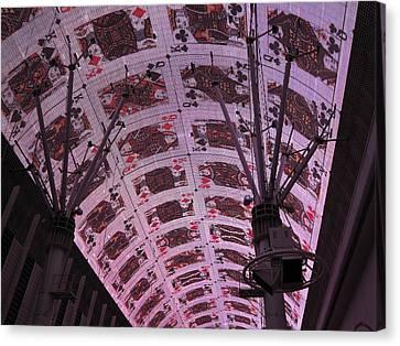 Las Vegas - Fremont Street Experience - 121210 Canvas Print by DC Photographer