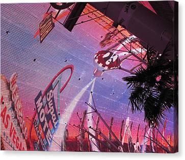 Las Vegas - Fremont Street Experience - 121212 Canvas Print by DC Photographer