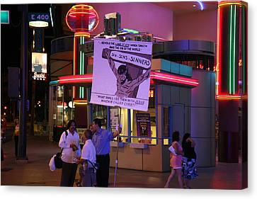 Las Vegas - Fremont Street Experience - 121220 Canvas Print