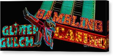 Las Vegas Neon Signs Fremont Street  Canvas Print by Amy Cicconi