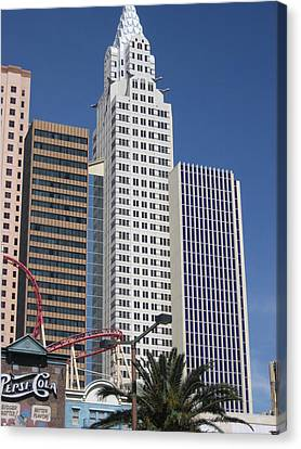 Las Vegas - New York New York Casino - 12125 Canvas Print by DC Photographer