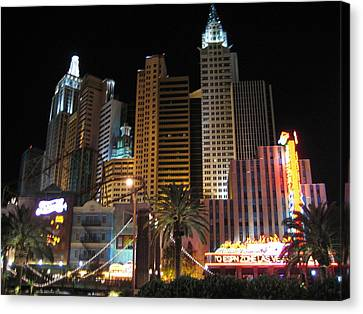 Las Vegas - New York New York Casino - 12127 Canvas Print by DC Photographer