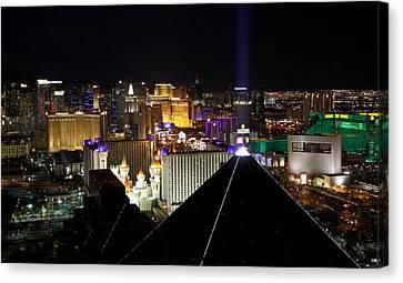 Las Vegas Night Pano Canvas Print