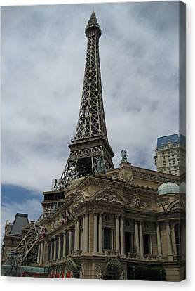 Las Vegas - Paris Casino - 12121 Canvas Print by DC Photographer