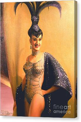 Las Vegas Showgirl  1960s Canvas Print by Art By Tolpo Collection