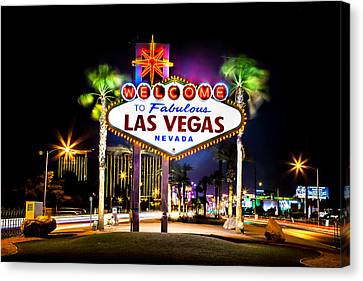 Entrance Canvas Print - Las Vegas Sign by Az Jackson