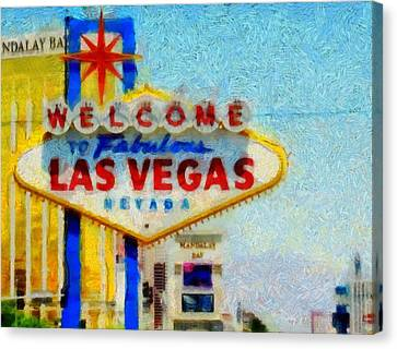 Las Vegas Sign Canvas Print by Dan Sproul