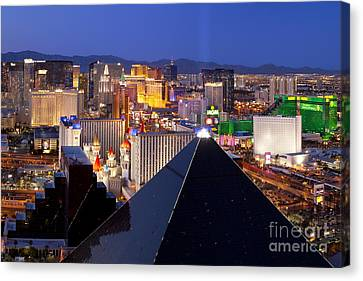 Las Vegas Skyline Canvas Print by Brian Jannsen