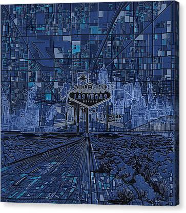 Las Vegas Skyline Canvas Print by Bekim Art
