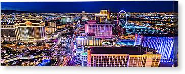 Las Vegas Strip North View 3 To 1 Aspect Ratio Canvas Print by Aloha Art
