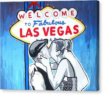Las Vegas Wedding Canvas Print by Gary Niles