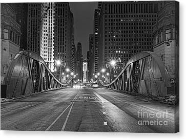 Lasalle St - Chicago Canvas Print by Jeff Lewis