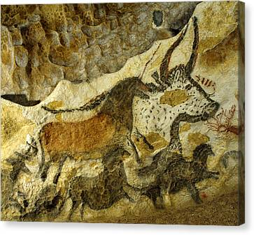 Lascaux Cave Painting Canvas Print by Jean-Paul Ferrero/Jean-Michel Labat