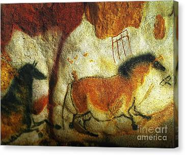 Lascaux II No. 6 - Horizontal Canvas Print by Jacqueline M Lewis
