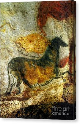 Canvas Print featuring the photograph Lascaux II Number 4 - Vertical by Jacqueline M Lewis