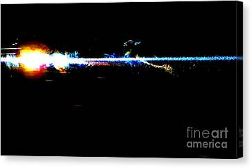 Laser Beam Canvas Print by Tim Townsend
