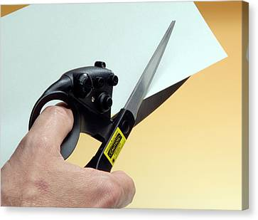 Laser-guided Scissors Canvas Print by Public Health England