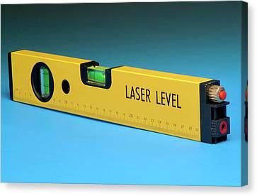 Laser Spirit Level Canvas Print by Public Health England