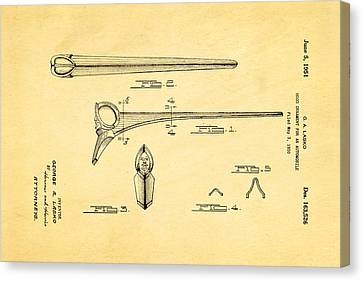 Lasko Hood Ornament Patent Art 1951 Canvas Print by Ian Monk