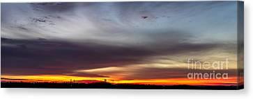 Last 2012 Sunrise Panoramic Canvas Print