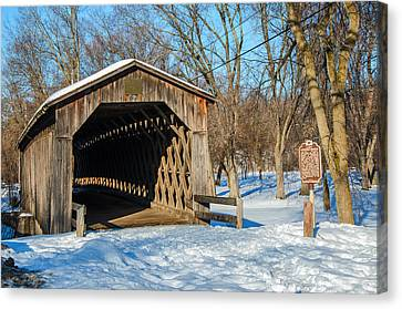 Last Covered Bridge Canvas Print by Susan  McMenamin