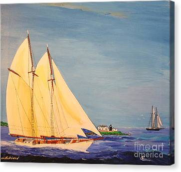 Last Cruise Of Sch. Arethusa Canvas Print