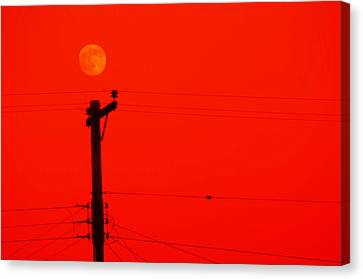 Red Moon Rising Canvas Print by See My  Photos
