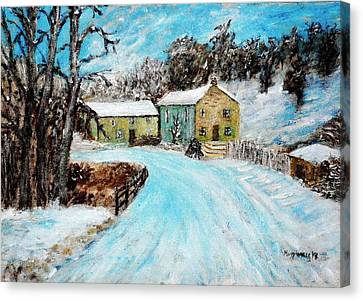 Last Days Of Winter Canvas Print by Mauro Beniamino Muggianu