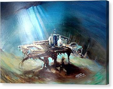 Last Dish Of The Ocean Canvas Print by Ottilia Zakany