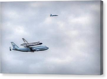 Canvas Print featuring the photograph Last Flight by Michael Donahue