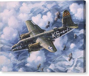 Last Flight Of The Shirley D Canvas Print by Randy Green