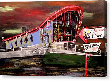Peggy Sues Diner Canvas Print - Last Friday Night Closed by Mark Moore
