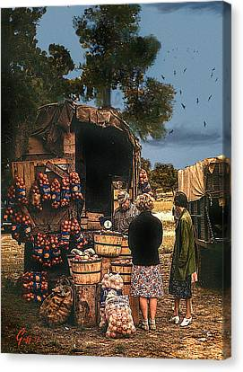 Last Fruit Wagon Of The Season Canvas Print