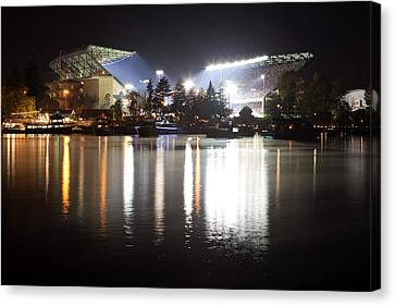 Last Game At The Old Husky Stadium Canvas Print