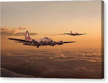 B17 Canvas Print - Last Home by Pat Speirs