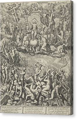 Last Judgment, Barbara Van Den Broeck, Hendrick Hondius Canvas Print