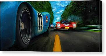 Last Lap Canvas Print by Alan Greene