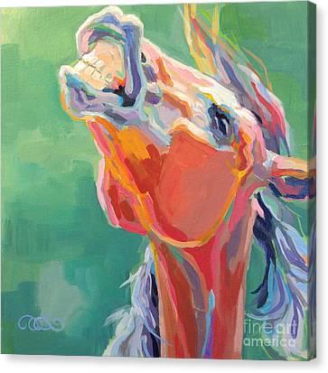 Bay Horse Canvas Print - Last Laugh by Kimberly Santini