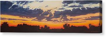 Last Light Canvas Print by Andrew Danielsen