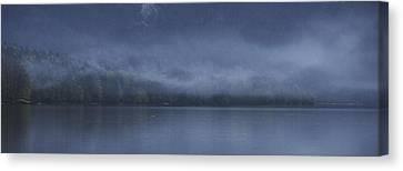 Canvas Print featuring the photograph Last Light At Bohinj by Graham Hawcroft pixsellpix