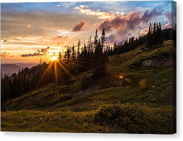 Storm Canvas Print - Last Light At Cedar by Chad Dutson